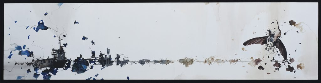 Untitled #49, Gouache on Archival Wood Panel, Nissa Kauppila, Mud Season Review