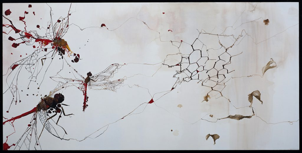 Untitled#50, Gouache on Archival Wood Panel, Nissa Kauppila, Mud Season Review