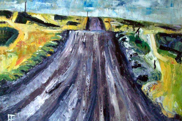 """Road to Palouse Falls,"" by Allen Forrest, Oil on Canvas, 18' x 24"", Mud Season Review"