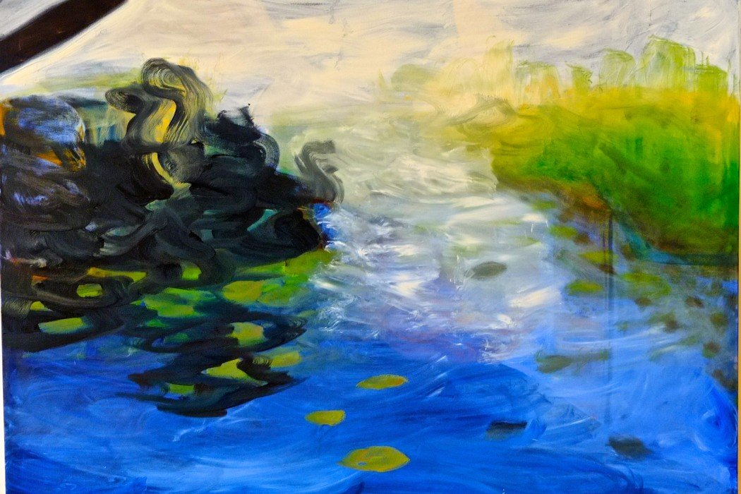 """Oil and Water,"" Oil on Canvas, 48"" x 68"", by Ronna Lebo, Mud Season Review"