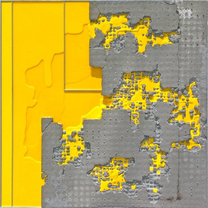 """ALLAMANDA 2055"" by Troy Simmons, 36"" x 36"" x 3"" Concrete, Aluminum and Acrylic, 2015, Mud Season Review"