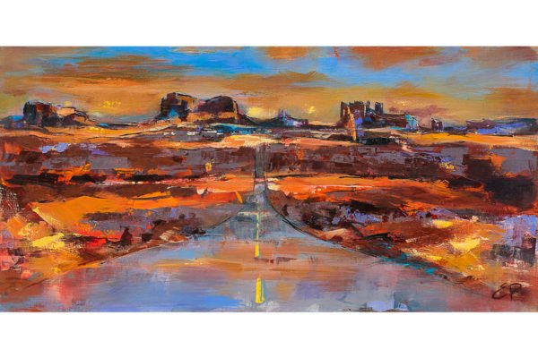 """The Land of Rock Towers"" by Elise Palmigiani, 19.70"" x 39.50"" Acrylic on Canvas, Mud Season Review"