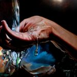 """Hands No. 5"" by Kimberly VanDenBerg, 3'x4' Oil On Canvas, Mud Season Review"