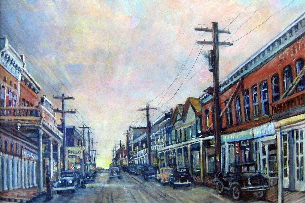 """Old Virginia City"" by Donna Tucker, 14x12, acrylic on hardboard"