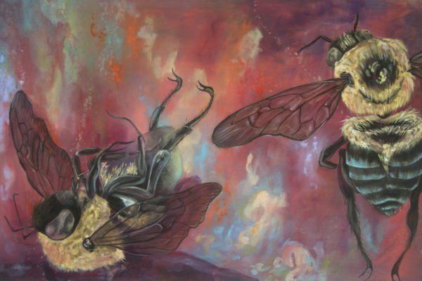 """A Threnody for Bees"" by Monica Stewart, oil on canvas, approx. 3 x 2 ft, 2012"