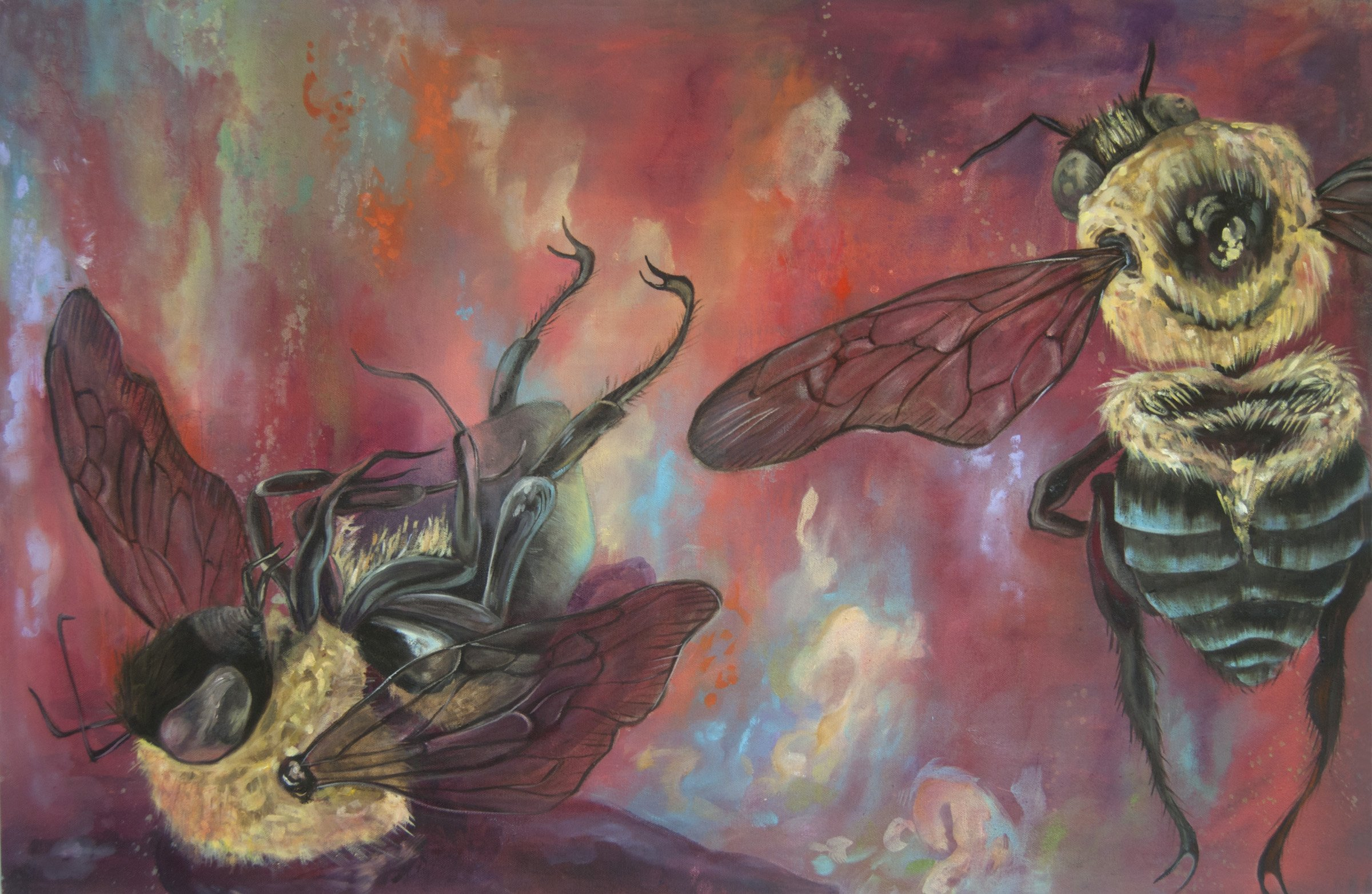 """A Threnody for Bees"" by Monica Stewart, Mud Season Review artist"