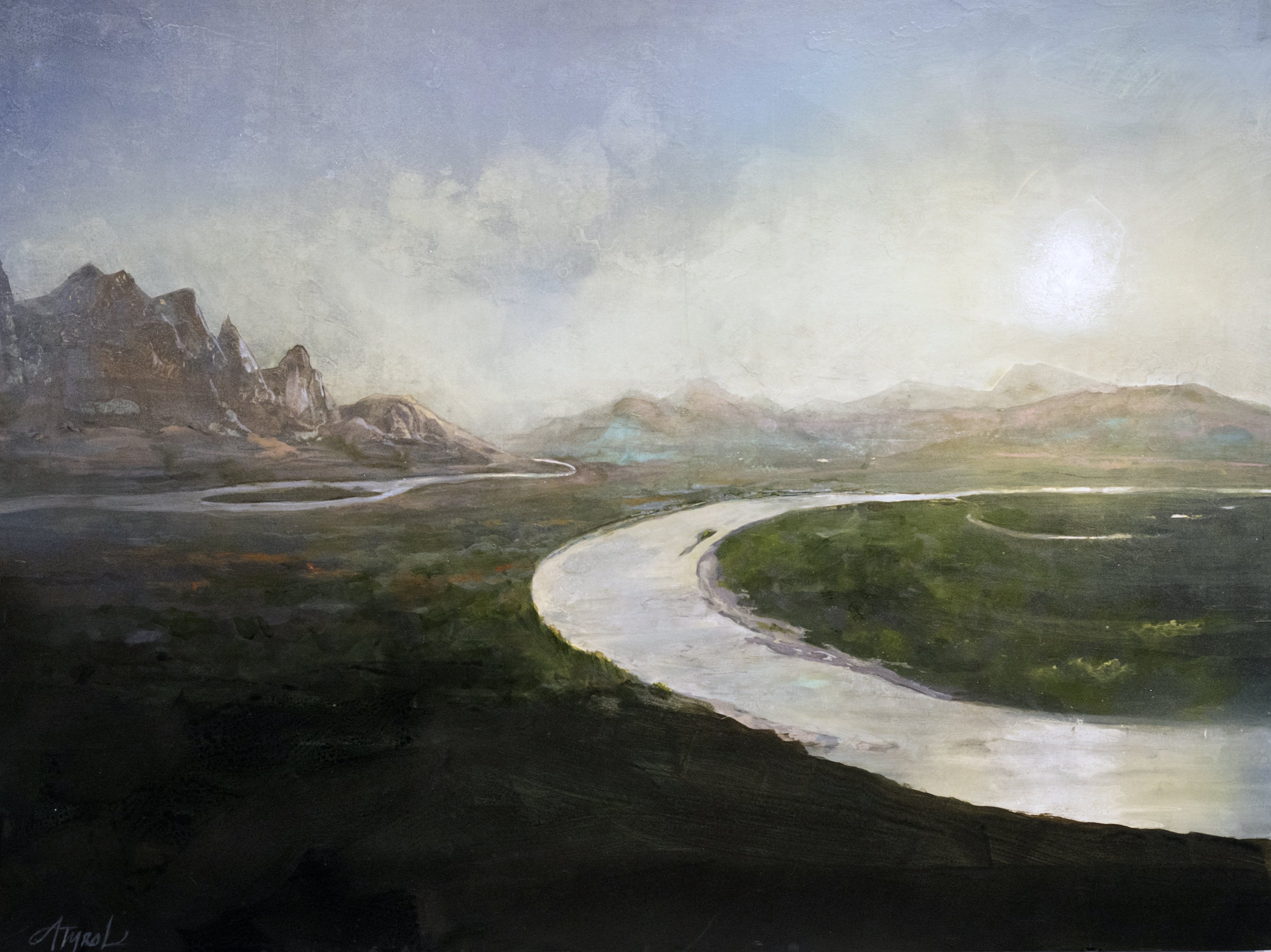 """Origins"" by Adelaide Tyrol, acrylic on wood panel, 30x40"