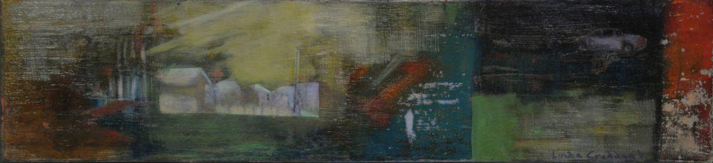 Memory: Night, Houses, Truck by Linda Craddock