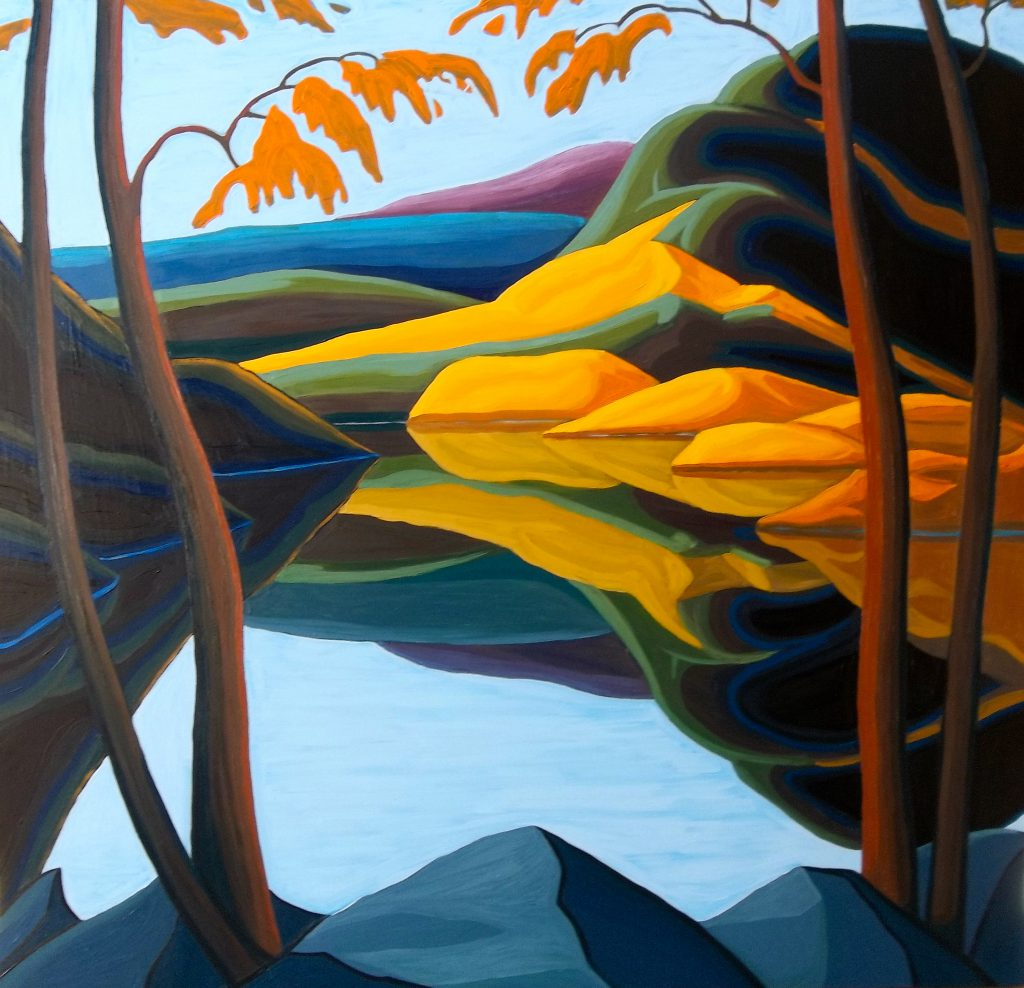 """""""October"""" by Robert Tokley, 44''x46'' Oil on Canvas, 2015, Mud Season Review"""