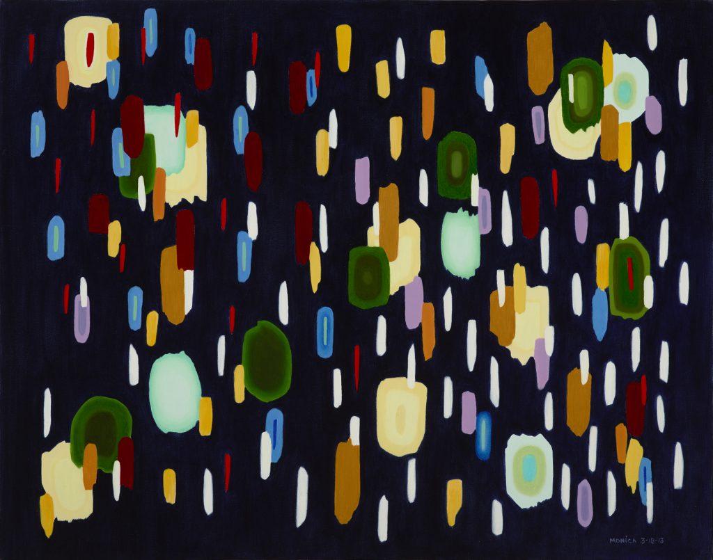 """""""Dark Garden"""" by Monica DiGiovanni, 22"""" x 28"""" Oil on Canvas , Mud Season Review"""