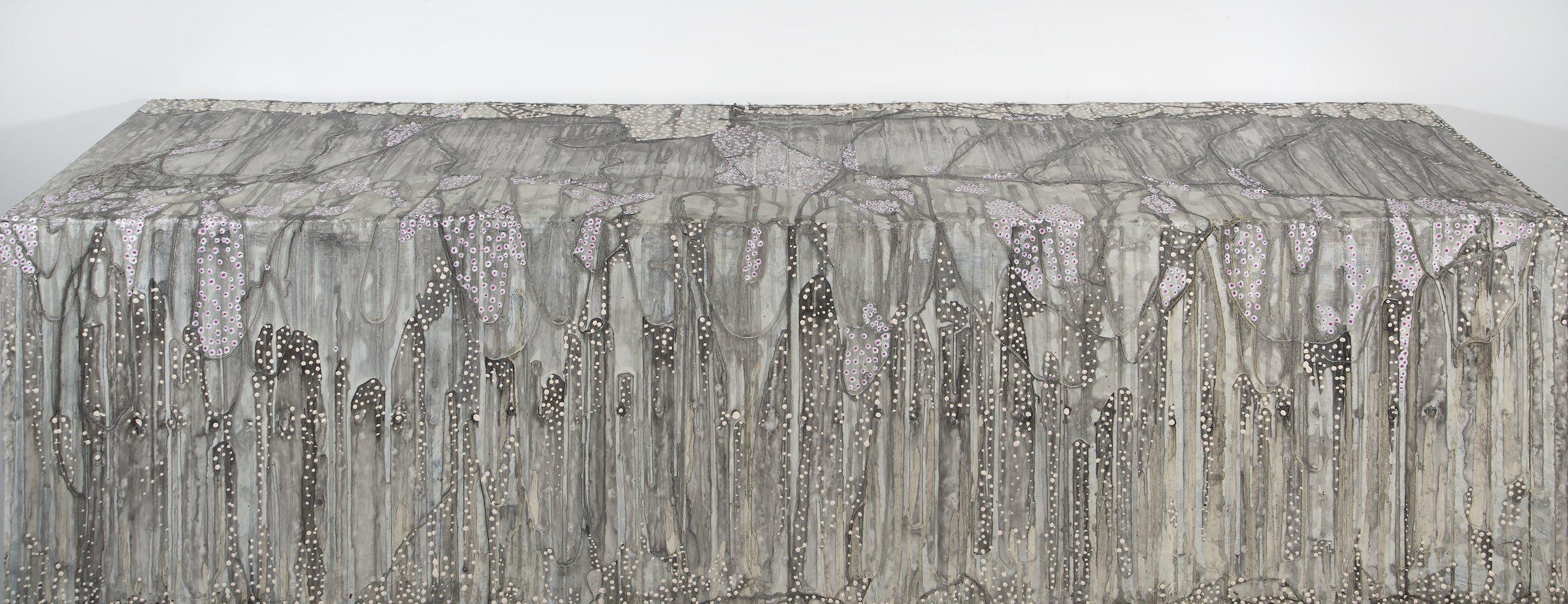 """Cornerpiece"" by Antonio Puri, 16""x12""x60"" Mixed Media on Canvas, 2014, Mud Season Review"