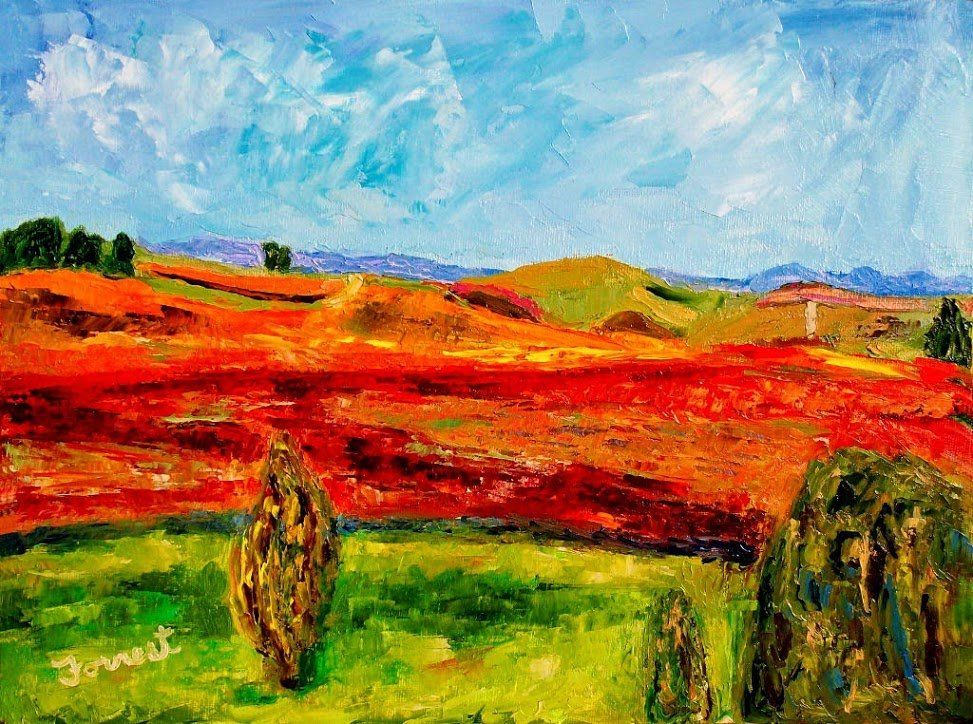"""""""Napa"""" by Allen Forrest, 12""""x16"""" Oil on Canvas Panel, 2010, Mud Season Review"""