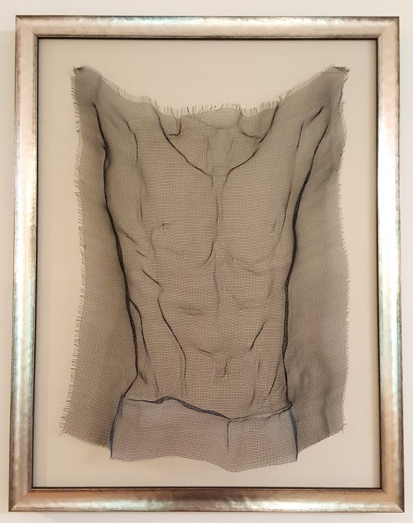 """""""To Will a Win"""" by Bonnie Shanas, 28"""" x 22"""" Wire Mesh Sculpture, Mud Season Review"""