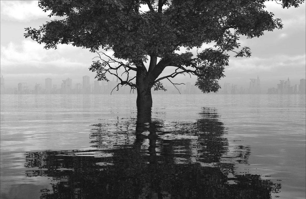 """""""Across the River"""" by John Douglas, 17"""" x 22""""Epson4900 Print,2015, Mud Season Review"""
