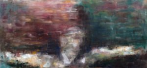 """""""Drowning #2"""" by Casey Gallagher, 20"""" x 44"""" Oil on Canvas, April 2015"""