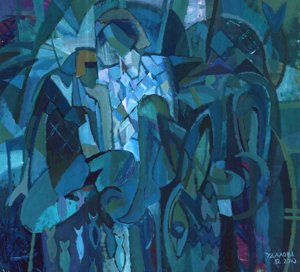 """Air Castles"" by Irina Udalova, tempera on paper, 2010"
