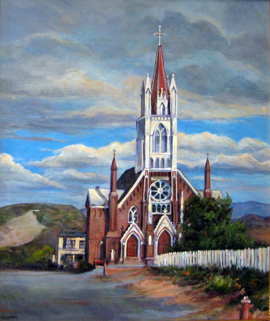 """St. Mary Of The Mountains"" by Donna Tucker, 18x24, acrylic on canvas"