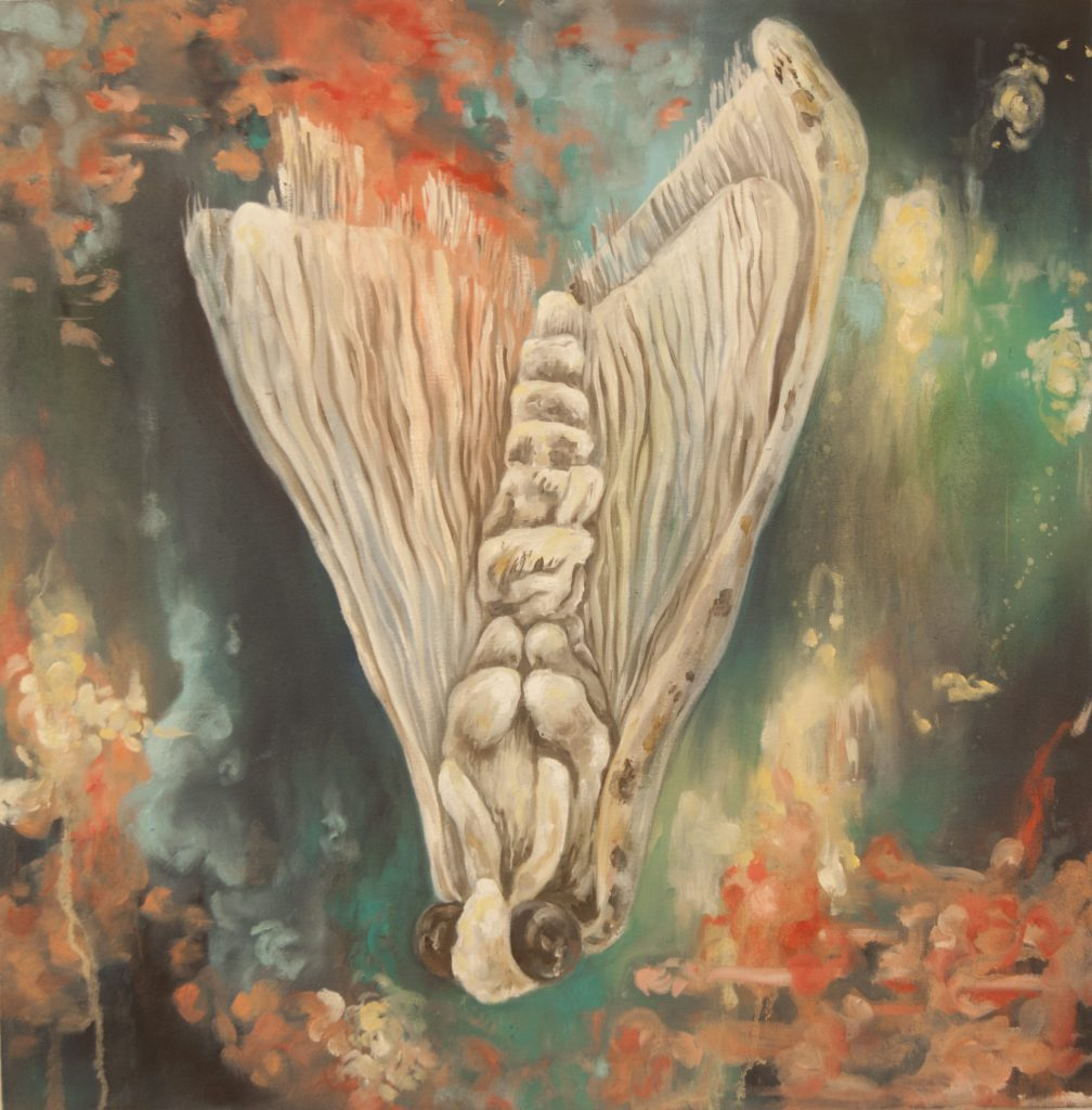 """""""Egress"""" by Monica Stewart, oil on canvas, approx. 2 x 2 ft, 2012"""