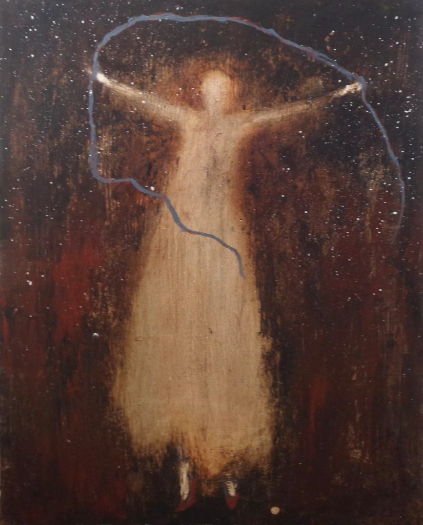 """Dervish"" by Jeanie Tomanek, 20x16 oil and cold wax on cradled panel"