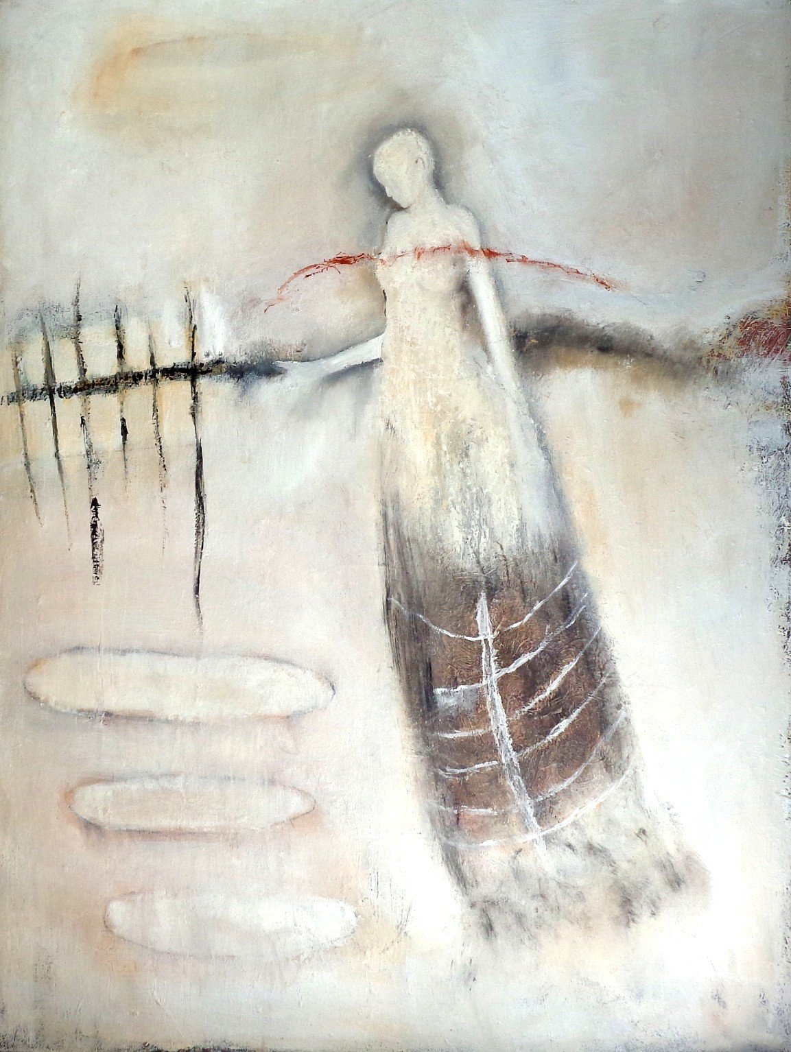 """""""From Nothing"""" by Jeanie Tomanek, Oil on canvas, 48x36 inches"""