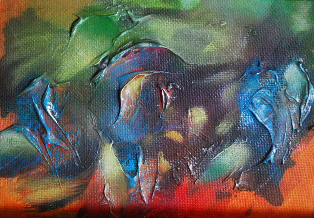 """Alegría 2"" by Vivian Calderón Bogoslavsky, 12x12cm"