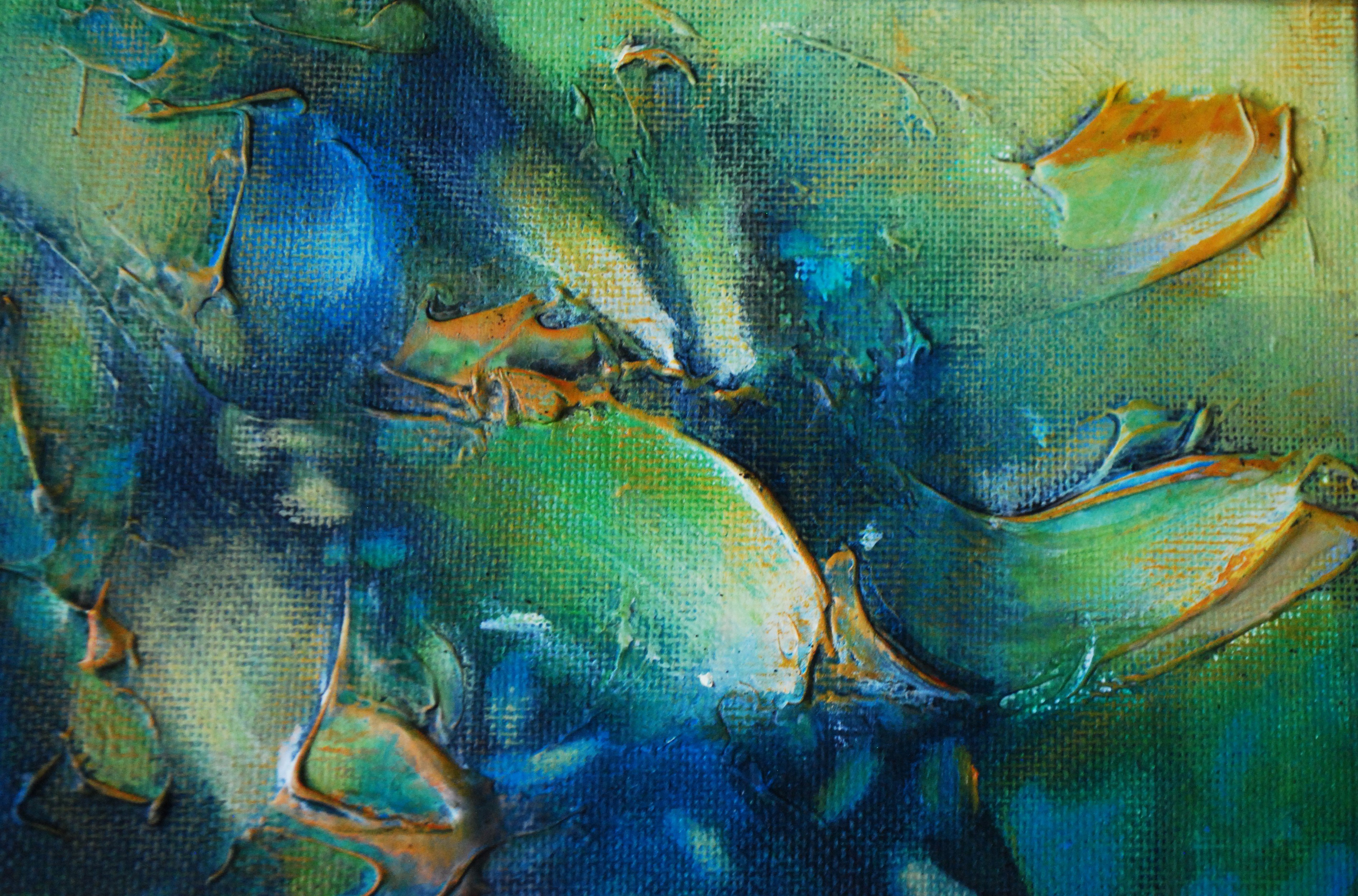 """Alegría 4"" by Vivian Calderón Bogoslavsky, 12x12cm"