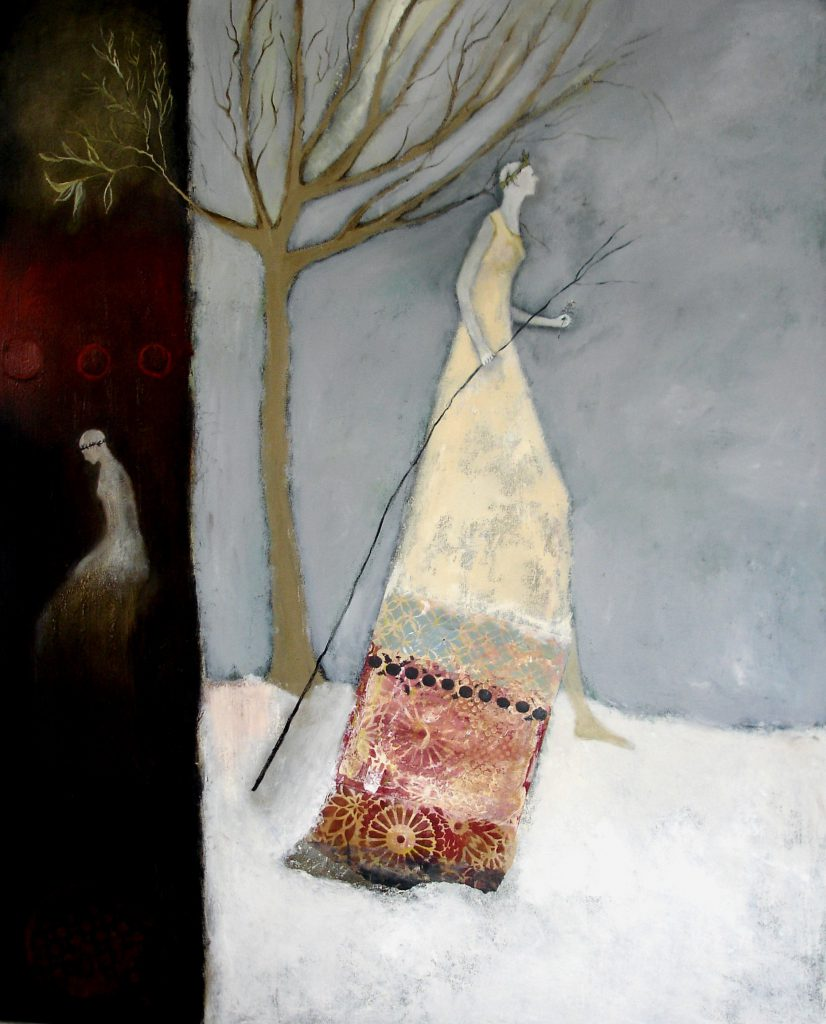 """""""Mother Winter III"""" by Jeanie Tomanek, oil painting, 48x36"""