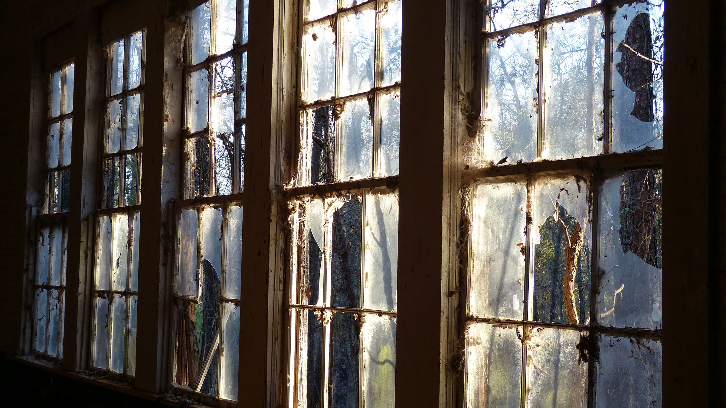 """Eden Church Ribbon of Windows, Louisville, Georgia"" by Kathleen Galvin, 8x4.5, December 2017"