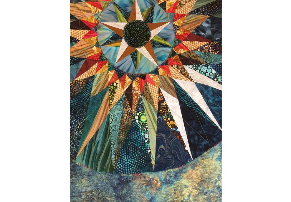 """""""Celestial"""" by Julia Muench, fiber art, 50x74 in., 2019"""